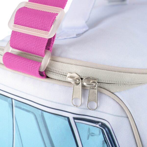 volkswagen camper van large cooler bag pink