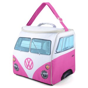 vw replica t1 bus camper koeltas roze