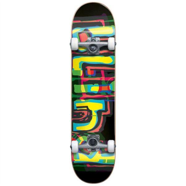 blind logo glitch first push complete skateboard