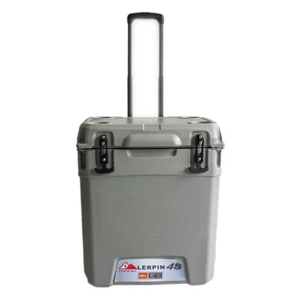 lerpin 45l koelbox wheely cooler grijs