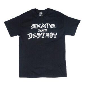 thrasher skate and destroy t-shirt black