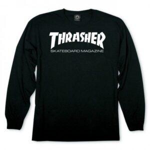 thasher skate mag longsleeve zwart