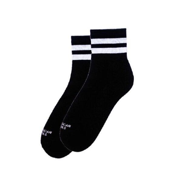 american socks black in black enkel