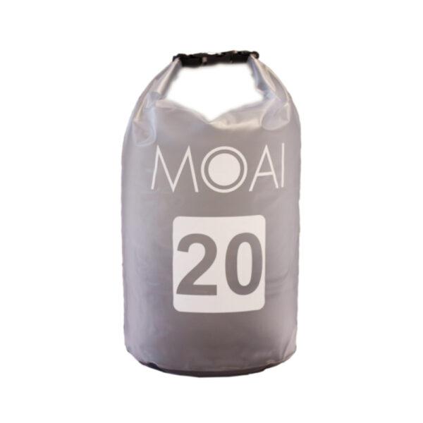 moai waterdichte tas 20 liter grijs
