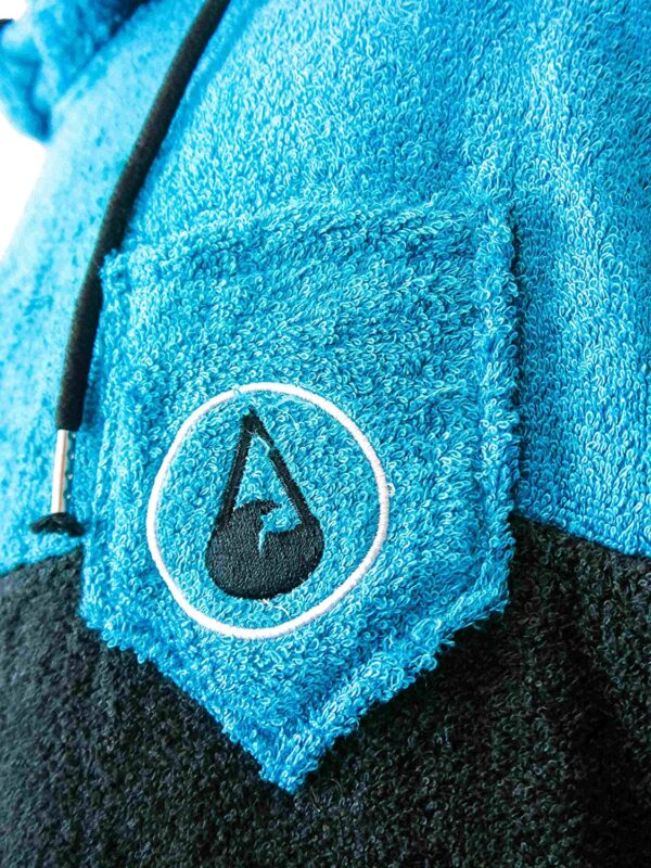 wave hawaii poncho blauw