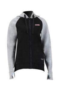 400 1475 010 prolimit neopreen zip top hooded 15mm zodiac grijs zwart dames